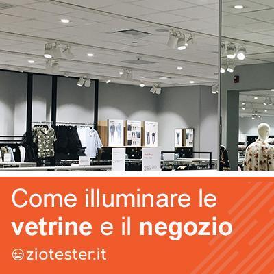 Come illuminare le vetrine di un negozio?