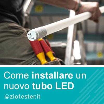 Sostituire un tubo Fluorescente con un tubo LED