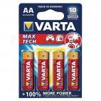 Batterie Alcaline Varta AA Max Tech 4706 Confezione da 4 Pz