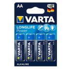 Batterie Alcaline Varta AA Longlife Power 4906 Confezione da 4 Pz