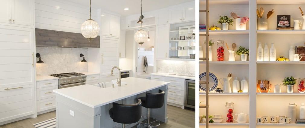 Illuminazione cucina con differenti soluzioni